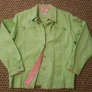 Bling Lime Green Jean Jacket